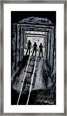 Coal Miners At Work Framed Print