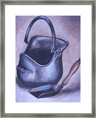 Coal Pail Framed Print by Mikayla Ziegler