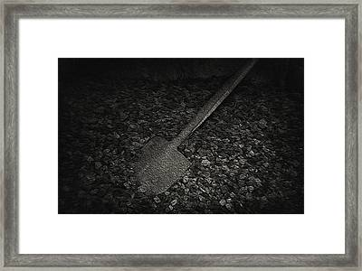 Coal Shovel - Pioneer Village Framed Print by Steve Ohlsen