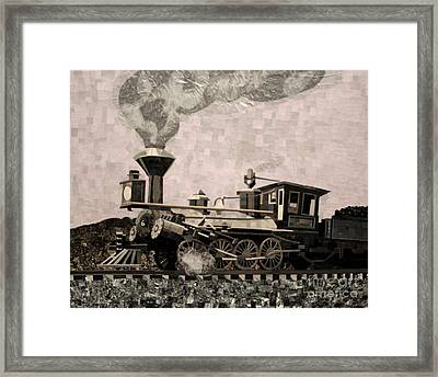 Coal Train To Kalamazoo Framed Print by Kerri Ertman
