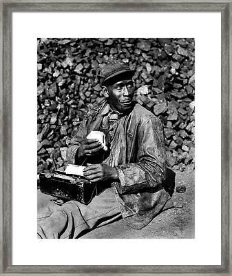 Coal Yard Worker - Oak Ridge Tennessee 1945 Framed Print