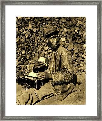 Coal Yard Worker - Oak Ridge Tennessee 1946 Framed Print