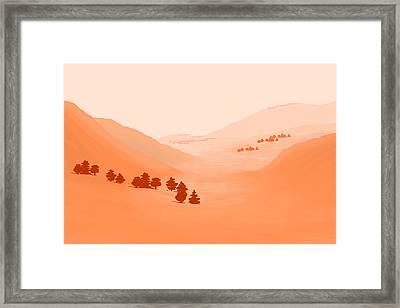 Coalinga Framed Print by Charles Harker