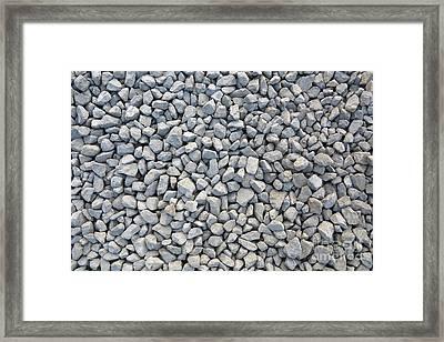 Coarse Gravel Framed Print by Michal Boubin