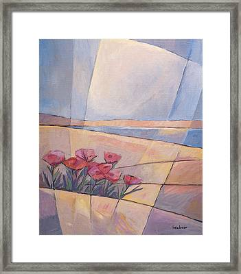 Coast Flowers Framed Print by Lutz Baar