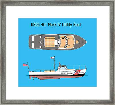 Coast Guard 40 Foot Utility Boat Framed Print