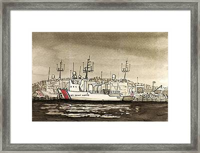 Coast Guard Base Portsmouth Framed Print