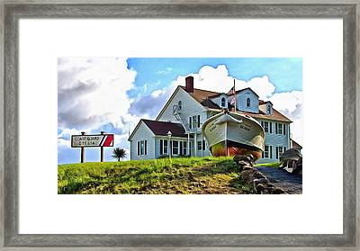 Coast Guard City Usa Framed Print