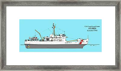 Coast Guard Cutter Storis Framed Print by Jerry McElroy