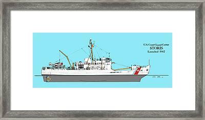 Coast Guard Cutter Storis Framed Print