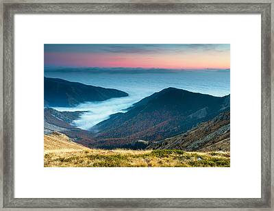 Coast In The Clouds Framed Print