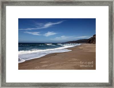 Coast Line Framed Print by Amanda Barcon