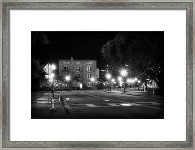 Coast Line Center At Night Framed Print