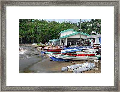 Framed Print featuring the photograph Coast Line by Gary Wonning