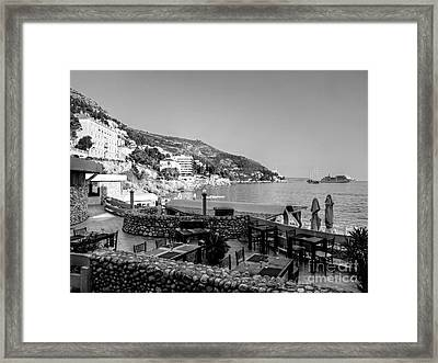 Coast Of Dubrovnik Framed Print