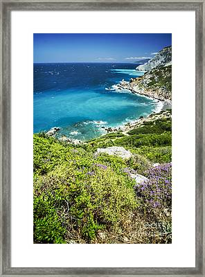 Coast Of Greece Framed Print by Jelena Jovanovic