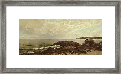 Coast Off Grand Manan Framed Print by Alfred Thompson Bricher