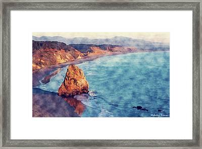 Coast Painting-beach-01 Framed Print