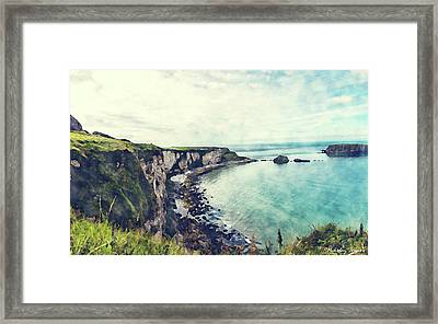 Coast Painting-cliffs-01 Framed Print