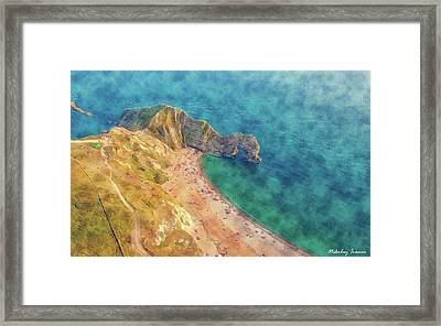 Coast Painting-coast Line-01 Framed Print