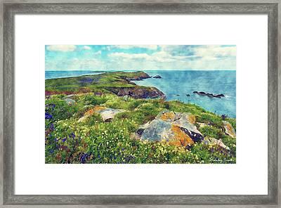 Coast Painting-coast Line-02 Framed Print