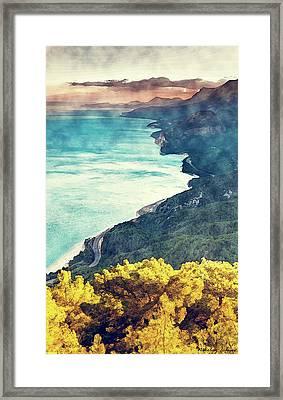 Coast Painting-coast Line-04 Framed Print