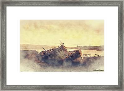 Coast Painting-forgotten-01 Framed Print by Nikolay Ivanov
