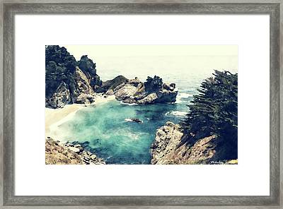 Coast Painting-small Beach-01 Framed Print