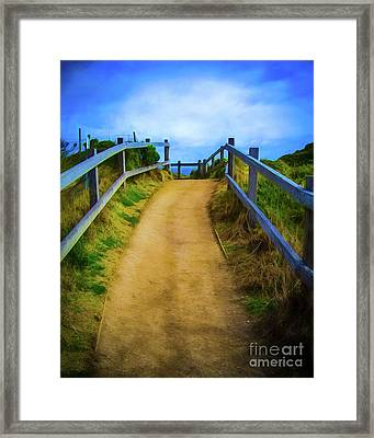 Framed Print featuring the photograph Coast Path by Perry Webster