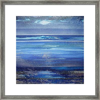 Coast Series Blue Am6 Framed Print by Mike   Bell