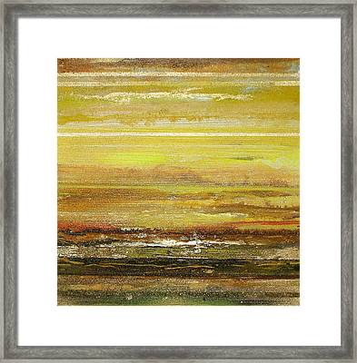 Coast Series Yellow Am9 Framed Print by Mike   Bell