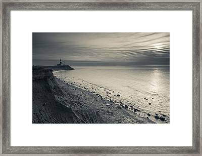 Coast With A Lighthouse Framed Print