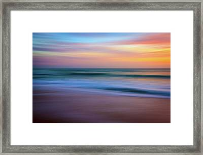 Coastal Abstract Framed Print