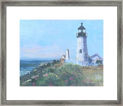 Coastal Afternoon Framed Print by Alicia Drakiotes
