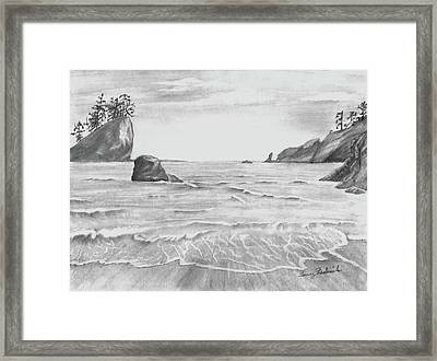Coastal Beach Framed Print