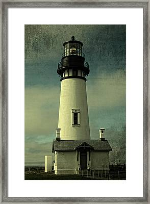 Coastal Breeze At Yaquina Head Framed Print