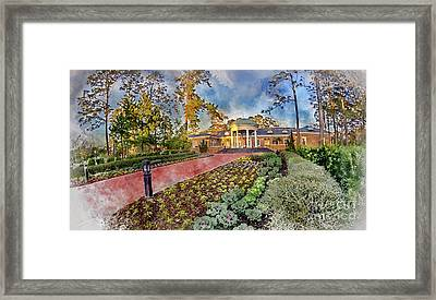 Coastal Carolina University Digital Watercolor Framed Print