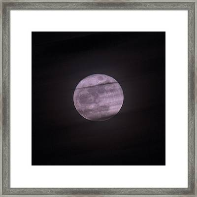 Coastal Christmas Moon Framed Print by Betsy Knapp