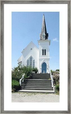 Coastal Church Framed Print