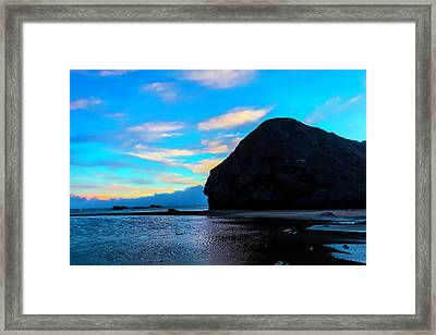 Coastal Clouds And Fog Framed Print