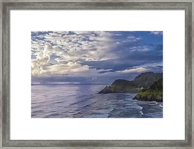 Coastal Drama Framed Print