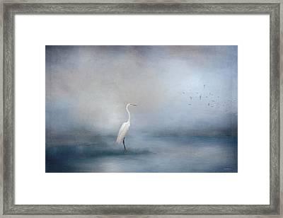 Coastal Egret Framed Print