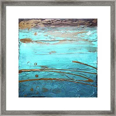 Coastal Escape I Textured Abstract Framed Print