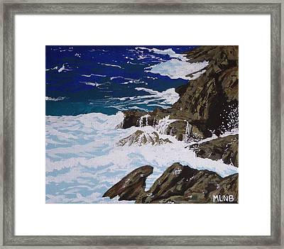 Coastal Falls Framed Print
