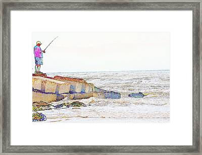 Coastal Fishing Framed Print
