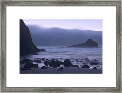 Coastal Fog - Big Sur Framed Print by Stephen  Vecchiotti