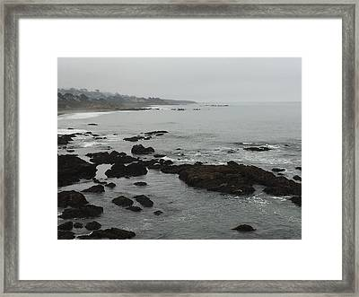Coastal Fog Framed Print by Russell Keating