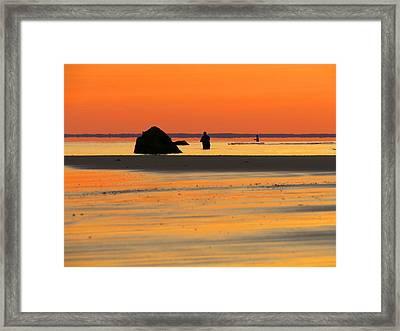 Coastal Glow Framed Print by Dianne Cowen