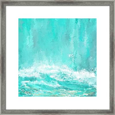 Coastal Inspired Art Framed Print by Lourry Legarde