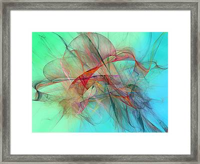Coastal Kite Framed Print by Betsy Knapp